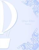 Άσπρη σκιαγραφία μπαλονιών με τις γωνίες Στοκ εικόνες με δικαίωμα ελεύθερης χρήσης