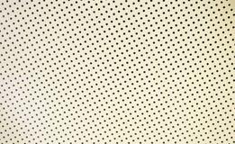Άσπρη στέγη με τις τρύπες στοκ εικόνα