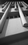 Άσπρη συγκεκριμένη λεπτομέρεια brutalist Στοκ Φωτογραφίες