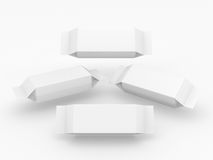 Άσπρη συσκευασία για το μακρύ προϊόν μορφής ορθογωνίων Στοκ Εικόνες