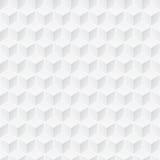 Άσπρη σύσταση - άνευ ραφής υπόβαθρο κύβων Στοκ Φωτογραφίες