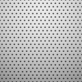 Άσπρη σύσταση μετάλλων με τις τρύπες Στοκ Εικόνα