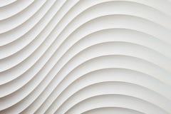 Άσπρη σύσταση τοίχων, αφηρημένο σχέδιο, κυματιστό σύγχρονο, γεωμετρικό υπόβαθρο στρώματος επικάλυψης κυμάτων Στοκ Εικόνα