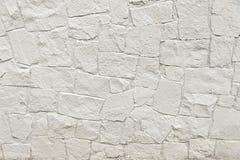 Άσπρη σύσταση υποβάθρου τοίχων μωσαϊκών πετρών Στοκ φωτογραφία με δικαίωμα ελεύθερης χρήσης