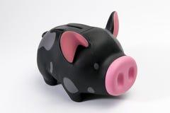 Άσπρη τράπεζα Piggy υποβάθρου Στοκ Εικόνες