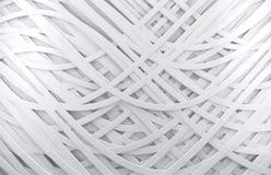 Άσπρη τρισδιάστατη αφηρημένη ανασκόπηση Στοκ Εικόνες