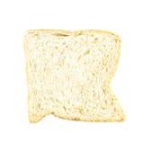 Άσπρη φέτα ψωμιού που απομονώνεται Στοκ Φωτογραφίες