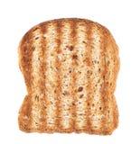 Άσπρη φέτα ψωμιού στο άσπρο υπόβαθρο Στοκ Εικόνα