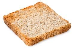 Άσπρη φέτα ψωμιού. Φρυγανιά που απομονώνεται στο λευκό Στοκ φωτογραφία με δικαίωμα ελεύθερης χρήσης