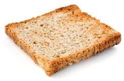 Άσπρη φέτα ψωμιού. Φρυγανιά που απομονώνεται. Στοκ Φωτογραφία