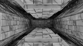 Άσπρη φουτουριστική διαστημική είσοδος σηράγγων Στοκ Φωτογραφία
