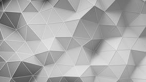 Άσπρη χαμηλή πολυ κατασκευή με τις γραμμές στην τρισδιάστατη απεικόνιση ακρών Στοκ Εικόνες