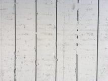 Άσπρη χρωματισμένη ξύλινη σύσταση υποβάθρου επιτροπής με slats Στοκ φωτογραφίες με δικαίωμα ελεύθερης χρήσης