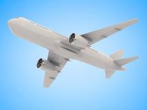 Άσπρη χλεύη επάνω στο αεροπλάνο Στοκ εικόνες με δικαίωμα ελεύθερης χρήσης