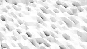 Άσπρη polygonal επιφάνεια που κυματίζει με DOF Αφηρημένος γεωμετρικός σύγχρονος Πολύγωνο τριγώνων Ρεαλιστική 4K ζωτικότητα ελεύθερη απεικόνιση δικαιώματος