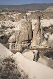 Άσπροι βράχοι σε Cappadocia Στοκ Εικόνα