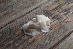 Άσπροι γλυκοί κύβοι ζάχαρης Στοκ Εικόνα