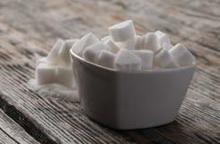Άσπροι γλυκοί κύβοι ζάχαρης Στοκ Εικόνες