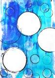 Άσπροι κύκλοι στο μπλε τυρκουάζ στοκ φωτογραφία με δικαίωμα ελεύθερης χρήσης