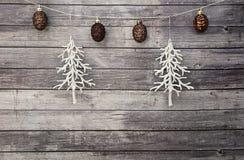 Άσπροι κώνοι χριστουγεννιάτικων δέντρων και πεύκων Στοκ φωτογραφίες με δικαίωμα ελεύθερης χρήσης