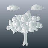 Άσπρος-δέντρο Στοκ Εικόνες