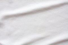 Άσπρος αθλητισμός που ντύνει το ύφασμα Τζέρσεϋ Στοκ Εικόνες