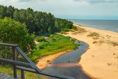 Άσπρος αμμόλοφος, Λετονία Στοκ φωτογραφίες με δικαίωμα ελεύθερης χρήσης