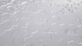 Άσπρος αφηρημένος Hexagon γεωμετρικός άνευ ραφής βρόχος 4K UHD επιφάνειας Μπροστινή όψη απεικόνιση αποθεμάτων