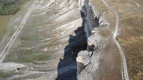 Άσπρος βράχος Κριμαία απόθεμα βίντεο