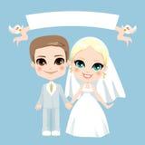 Άσπρος γάμος ζεύγους απεικόνιση αποθεμάτων