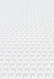 Άσπρος γεωμετρικός τοίχος Στοκ φωτογραφία με δικαίωμα ελεύθερης χρήσης