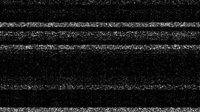 Άσπρος θόρυβος οθόνης TV στατικός απόθεμα βίντεο
