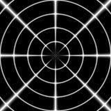 Άσπρος διαγώνιος τρίχα ή στόχος ελεύθερων σκοπευτών στο μαύρο υπόβαθρο Στοκ Εικόνες