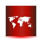 Άσπρος διανυσματικός χάρτης Κενό παγκόσμιων χαρτών Πρότυπο παγκόσμιων χαρτών Παγκόσμιος χάρτης σε ένα κόκκινο υπόβαθρο ελεύθερη απεικόνιση δικαιώματος