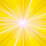 άσπρος κίτρινος ακτίνων ελεύθερη απεικόνιση δικαιώματος