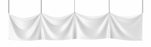 Άσπρος καμβάς, κενό έμβλημα προτύπων που απομονώνεται τρισδιάστατη απόδοση Στοκ Εικόνα