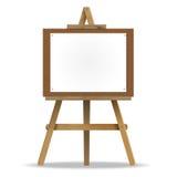Άσπρος καμβάς easel. διανυσματική απεικόνιση