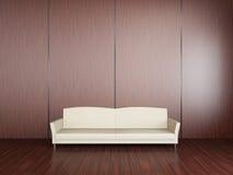 Άσπρος καναπές Στοκ εικόνες με δικαίωμα ελεύθερης χρήσης