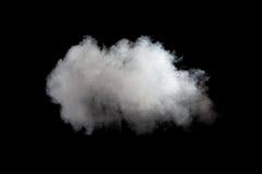 Άσπρος καπνός στο μαύρο υπόβαθρο Στοκ Εικόνες