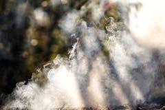 Άσπρος καπνός, υπόβαθρο Στοκ Φωτογραφίες