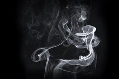 Άσπρος καπνός στοκ φωτογραφία