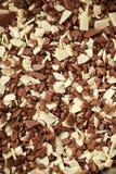 Άσπρος καφετής και σκοτεινός φραγμός σοκολάτας στοκ φωτογραφία με δικαίωμα ελεύθερης χρήσης