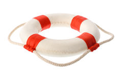 Άσπρος-κόκκινο lifebuoy Στοκ φωτογραφία με δικαίωμα ελεύθερης χρήσης