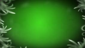 Άσπρος κύκλος παγετού στο σκούρο πράσινο άνευ ραφής βρόχο υποβάθρου απεικόνιση αποθεμάτων