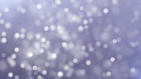 Άσπρος μικρός μεγάλος κινούμενος αφηρημένος να αναβοσβήσει καμμένος ακτινοβολώντας βρόχος μορίων σκόνης απεικόνιση αποθεμάτων
