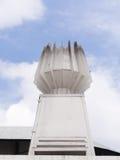 Άσπρος μικρός φανός στο κτήριο σταδίων στοκ φωτογραφία με δικαίωμα ελεύθερης χρήσης