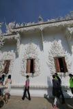 Άσπρος ναός της Ταϊλάνδης Chiang Rai, Wat Rong Khun Στοκ Φωτογραφία