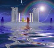 Άσπρος ναός διανυσματική απεικόνιση