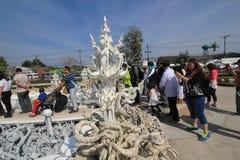 Άσπρος ναός, Wat Rong Khun σε Chiang Rai, Ταϊλάνδη Στοκ εικόνα με δικαίωμα ελεύθερης χρήσης