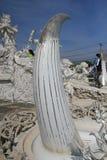Άσπρος ναός, Wat Rong Khun σε Chiang Rai, Ταϊλάνδη Στοκ φωτογραφίες με δικαίωμα ελεύθερης χρήσης